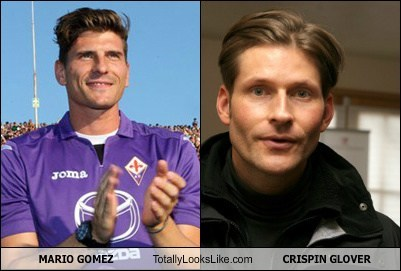 Crispin Glover,totally looks like,funny,mario gomez