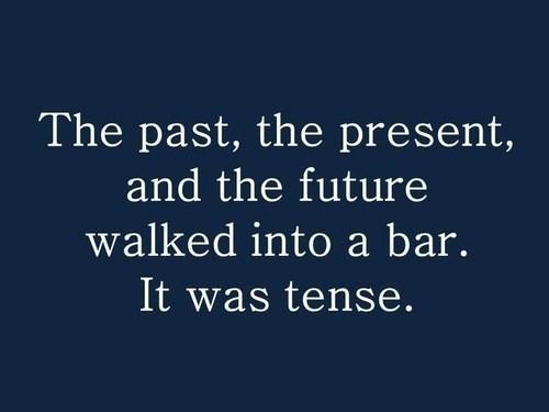 bar,present,grammar,tense