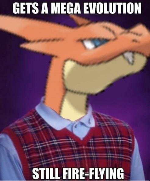 mega charizard Pokémon mega evolutions bad luck brian Memes - 7778561024
