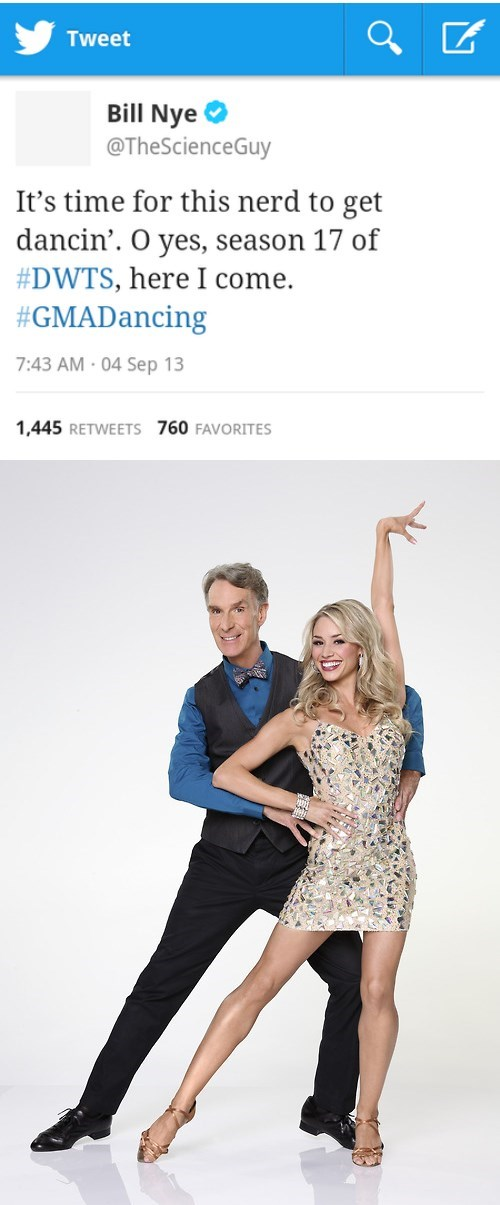 bill nye,twitter,nerds,Dancing With The Stars,bill nye the science guy