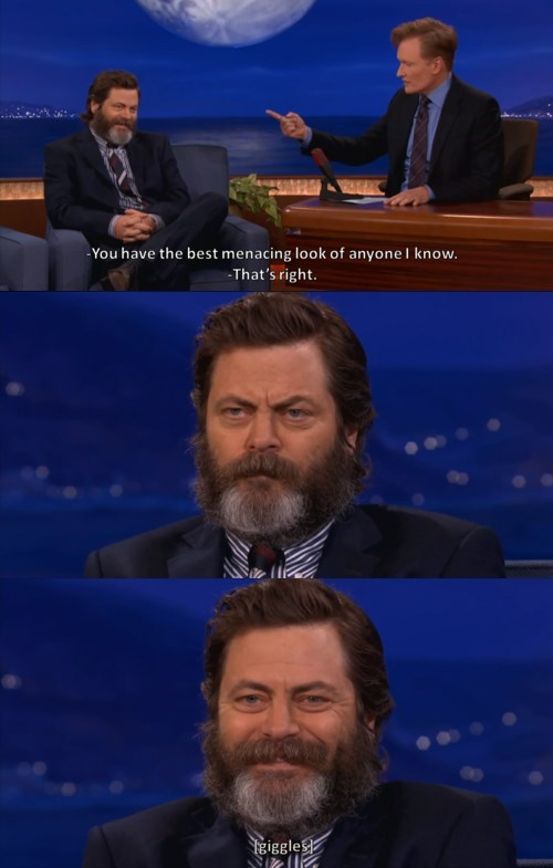ron swanson,Team Coco,Nick Offerman,Parks & Rec,conan obrien