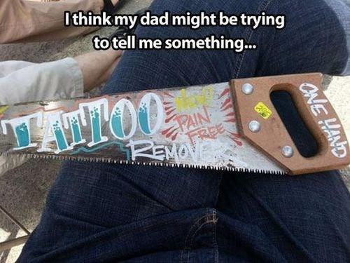 legit saws tattoos funny - 7778650368