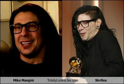 skrillex totally looks like mike mangini funny