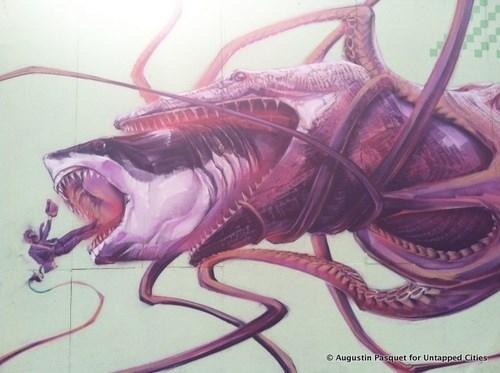 nature wtf sharks graffiti funny - 7778752768