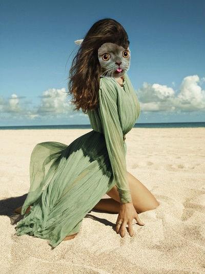 model,beach
