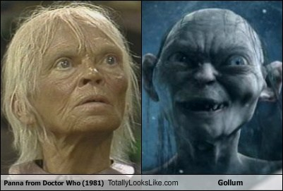 panna,gollum,totally looks like,doctor who,funny
