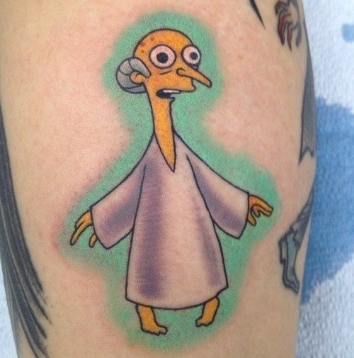 Aliens,mr burns,tattoos,funny