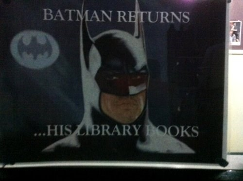 library books,batman,funny