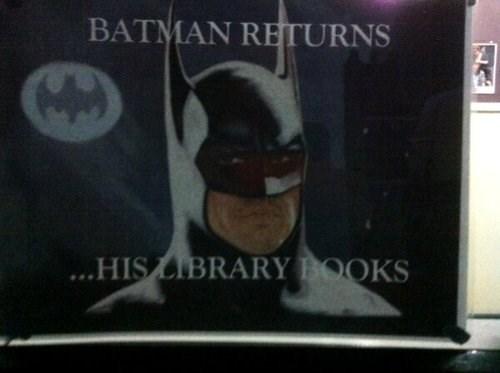 library books batman funny - 7778933760