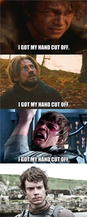 theon greyjoy,star wars,Game of Thrones,amputations