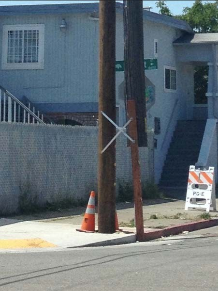 funny there I fixed it telephone pole