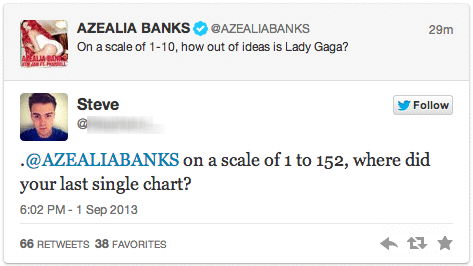 billboard singles sick burn lady gaga azealia banks billboard hot 100 burn - 7779093760