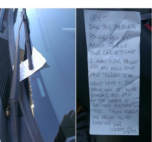 cops random act of kindness cars restoring faith in humanity week ticket funny g rated win - 7779146240