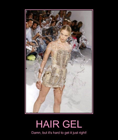fashion wtf hair gel dress funny