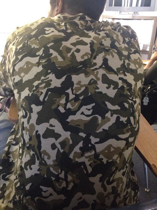 trashy shirt camouflage funny - 7779164928