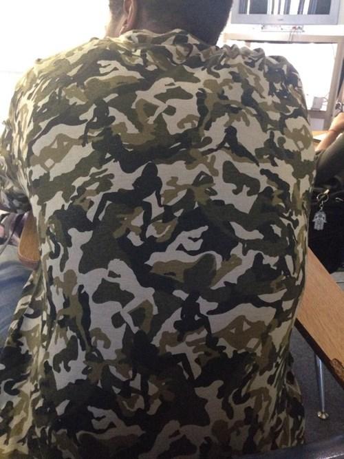 trashy shirt camouflage funny - 7779164928