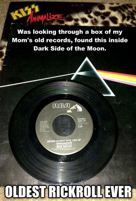 record rick roll pink floyd troll Music g rated - 7779326464