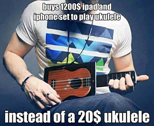 ipad,ukelele,iphone