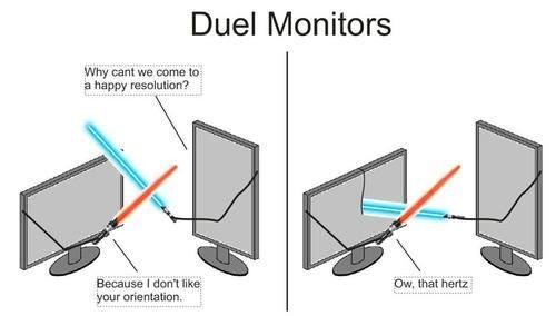 duel puns monitor dual - 7779386112