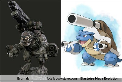 Pokémon,blastoise,totally looks like,brumak,funny,mega evolution