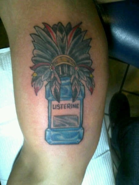 listerine wtf tattoos funny - 7779729920