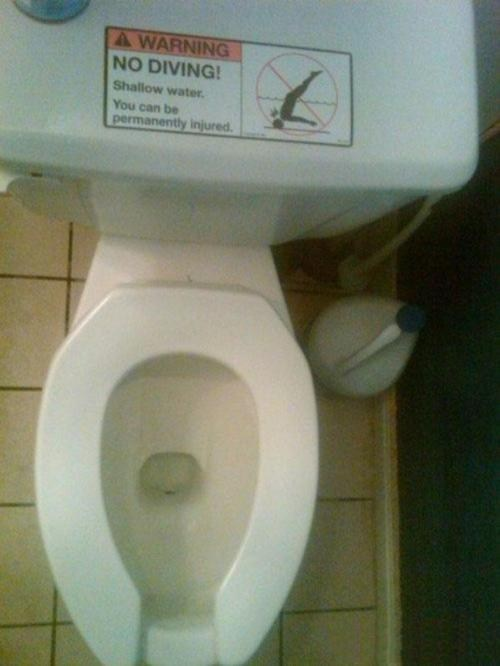 diving,no diving,toilet