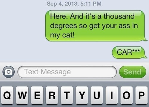 cat autocorrect car text funny AutocoWrecks - 7780414464