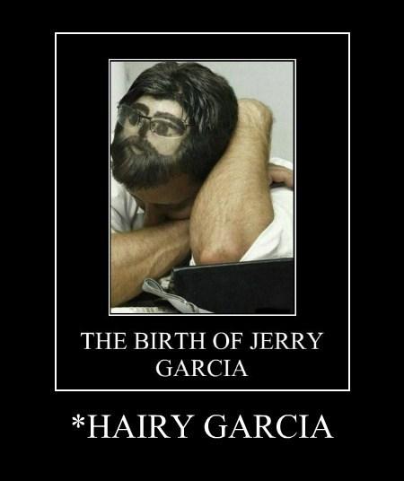 hair head jerry garcia funny - 7780474368