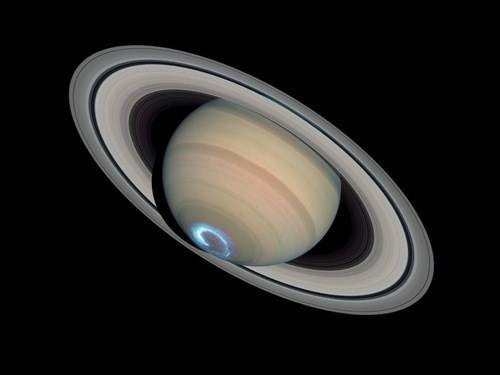Astronomy science Saturn space aurora - 7780503808