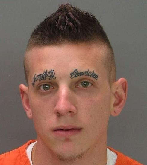 convict eyebrows jail tattoos funny - 7780525312