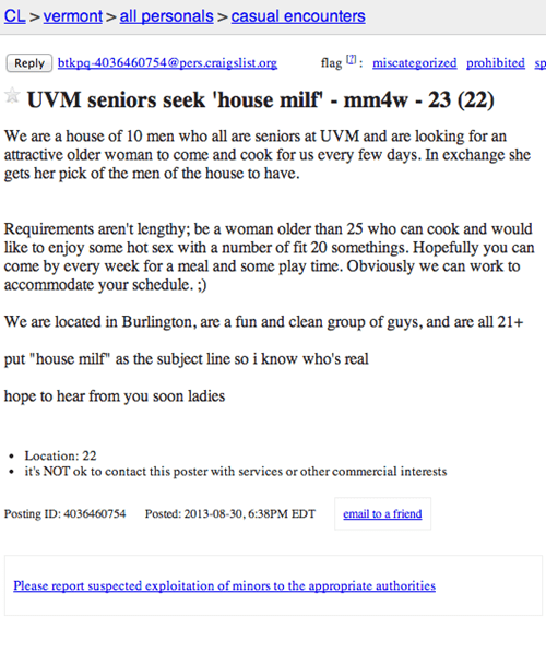 uproxx,craigslist,wanted,Ad,creepy,funny,failbook,g rated