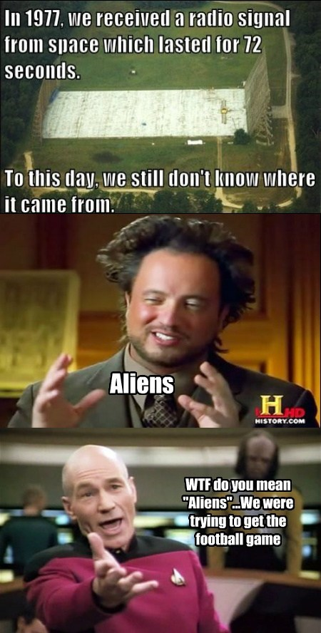Aliens Star Trek football funny