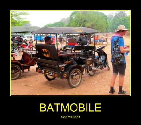 batmobile,rickshaw,batman,funny
