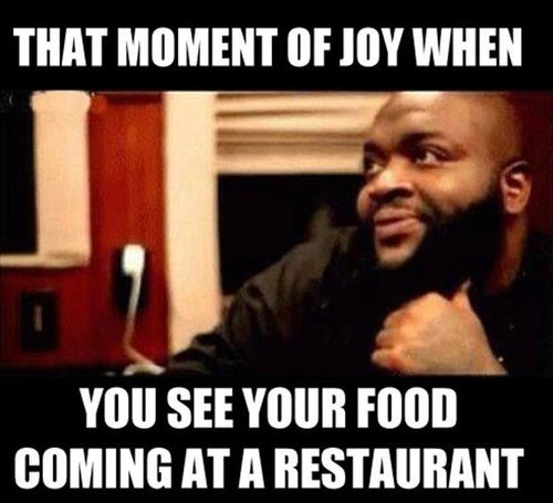 that moment of joy,food