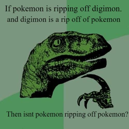 Pokémon digimon Memes philosoraptor - 7780806144