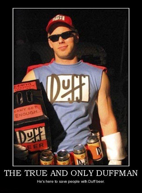 duffman,wtf,duff beer,superhero