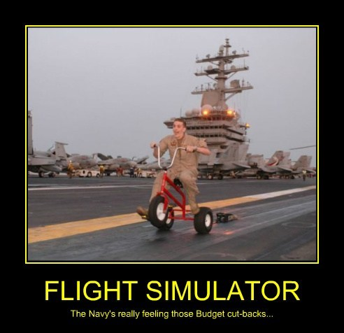 flight simulator navy funny budget