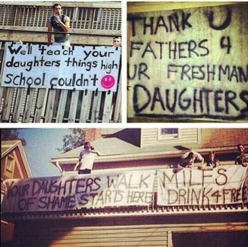 sign school douchebags funny college - 7780938496
