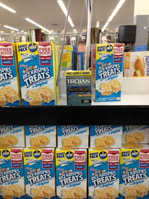 decisions decisions,rice krispie treats,condoms,monday thru friday