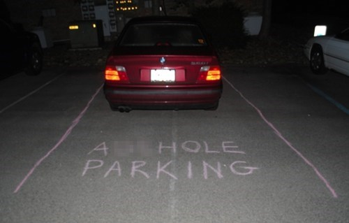 parking jobs,ahole parking,parking,chalk