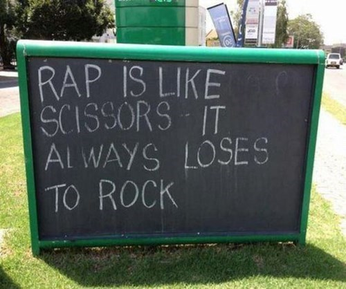 rock rap puns - 7781400832