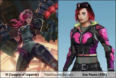 SSX zoe payne totally looks like vi league of legends funny - 7781508096