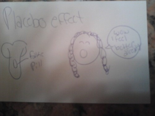 Placebo Effect drawing kids parenting funny - 7781863168