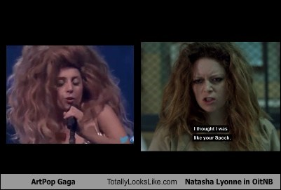 orange is the new black,artpop,totally looks like,lady gaga,natasah lyonne,funny