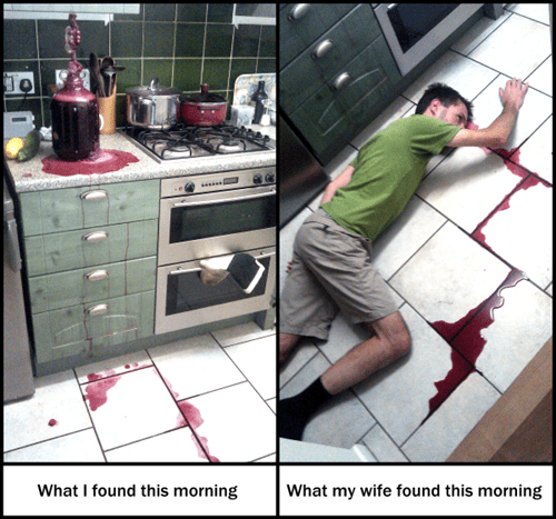 wife wine relationships pranks scare prank homebrew - 7782196224