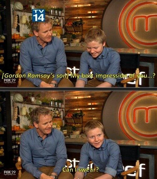 gordon ramsay,parenting,cussing,MasterChef