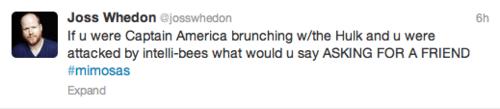 twitter,avengers 2,captain america,Joss Whedon,mimosa,hulk