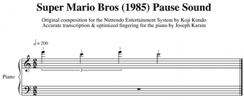 Music,Super Mario bros,pause sound