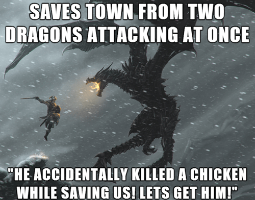 video game logic,Skyrim