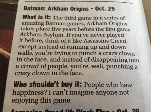 papers,batman arkham origins